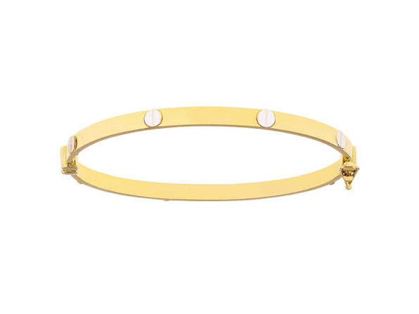 Christian Van Sant Italian 14k Yellow & White Gold Bracelet - CVB9LRI - Product Image