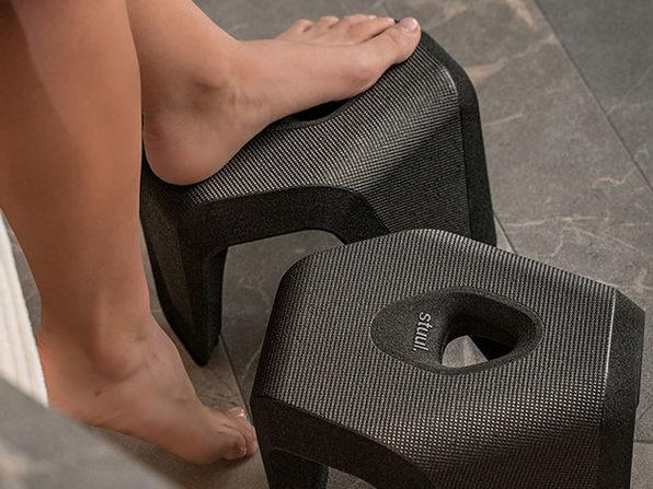 Stuul®: Two-Piece Toilet Stool