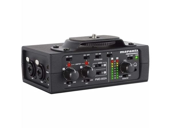 Marantz PMD-602A 2-Channel Battery-Operated DSLR Cameras Audio Interface - Product Image