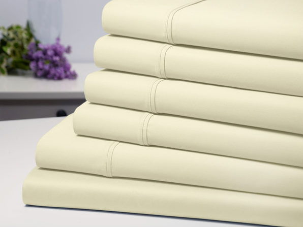 Bamboo Comfort 6 Piece Luxury Sheet Set - Ivory (Queen) - Product Image