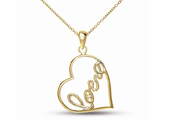 """Create Your Love Story"" Necklace (Rose Gold Plated)"