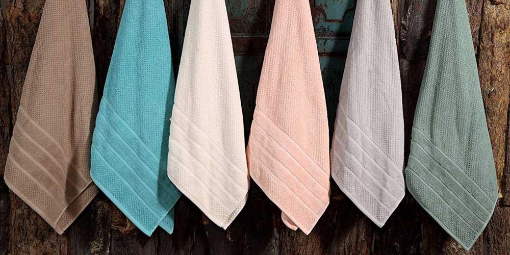 6-Piece Bibb Home Cotton Towel Set