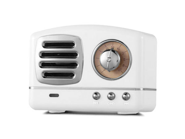 Retro Bluetooth Speakers- White - Product Image