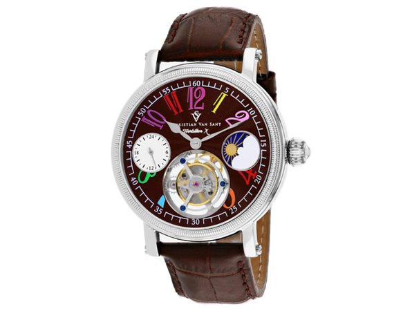 Christian Van Sant Men's Tourbillon X Limited Edition Brown Dial Watch - CV0993 - Product Image