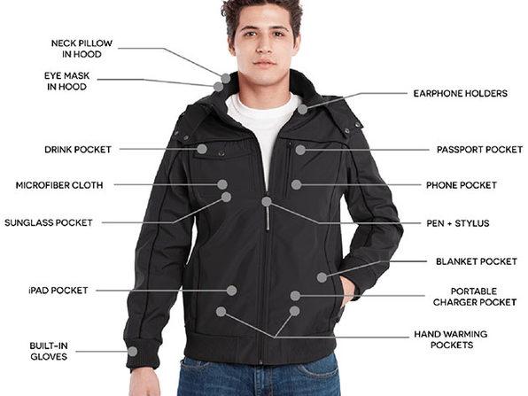 BauBax Men's Bomber Jacket (Black/Small)
