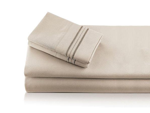 Bali Bamboo Luxury 6-piece Sheet Set Beige Full - Product Image