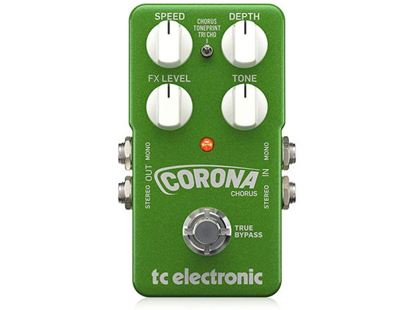 TC Electronic 960700001 True Bypass Zero Loss of Tone Corona Chorus Pedal, Green (Like New, Damaged Retail Box)