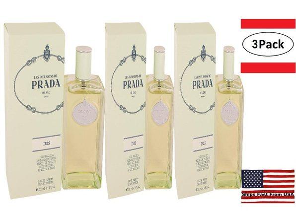3 Pack Prada Infusion D'iris by Prada Eau De Parfum Spray 6.7 oz for Women