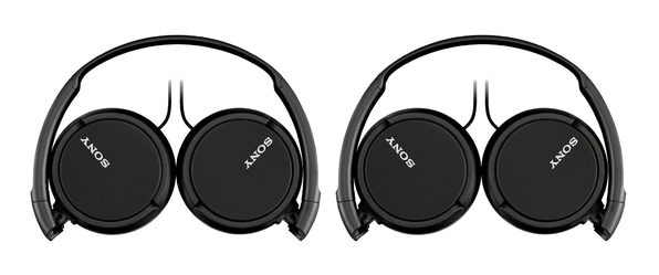 Sony Extra Bass On-Ear Headphones with Mic, Smartphone Headset for Apple iPhone & Android with In-Line Remote & Microphone, and 30mm Drivers, Black, MDRZX110AP/B (Open Box - Like New)
