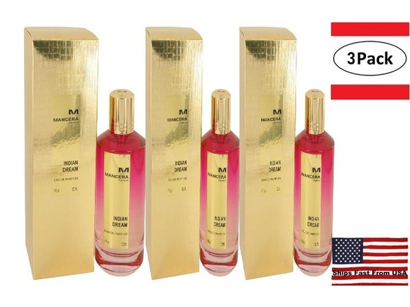 3 Pack Mancera Indian Dream by Mancera Eau De Parfum Spray 4 oz for Women - Product Image