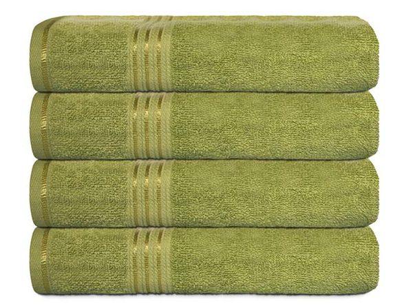 Hurbane Home 4 Piece Bath Towel Set Green - Product Image