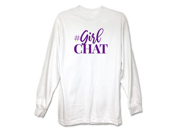 The Real GirlChat White Long Sleeve Shirt (Large)