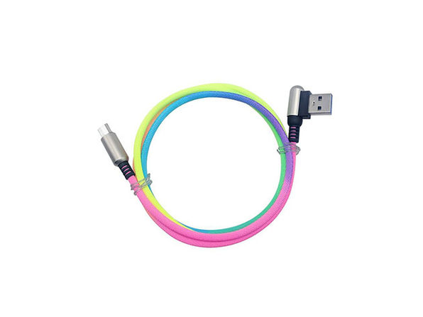 3.3' Rainbow Charging Cable: 2-Pack (Micro USB)