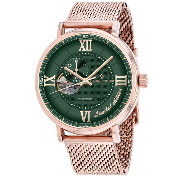 Christian Van Sant Men's Somptueuse LTD Green Dial Watch - CV1148