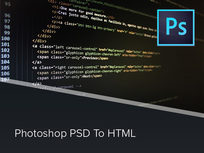 Photoshop PSD to HTML Course - Product Image