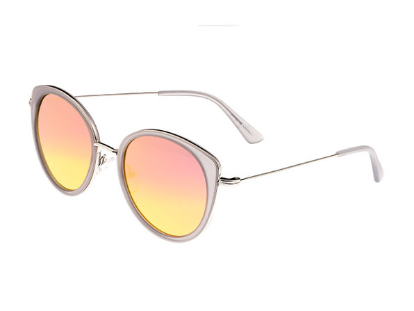 Bertha Sasha Wayfarer Sunglasses (Silver/Rose Gold)