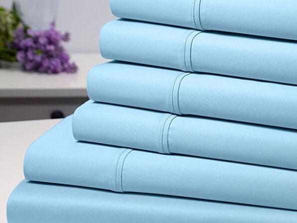 Bamboo Comfort 6-Piece Luxury Aqua Sheet Set (Queen)
