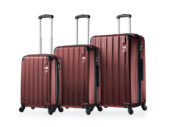 Abruzzo 3-Piece Luggage Set (Burgundy)