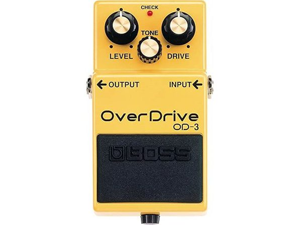 Boss OD-3 Dual Stage Classic Smooth Overdrive Guitar Pedal, Meduim - Gold (Used, Damaged Retail Box) - Product Image
