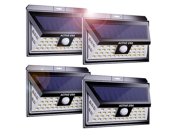 Outdoor Security Wall Lights with 44 LEDs & Motion Sensor (Bundle of 4)