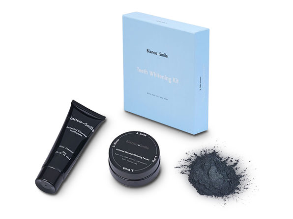Bianco Smile Complete Activated Charcoal Teeth Whitening Pack: Powder, Toothpaste & Whitening Gel