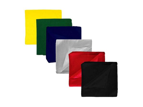 36 Pack Daily Basic Solid 100% Cotton 22 x 22 Bandanas - Black
