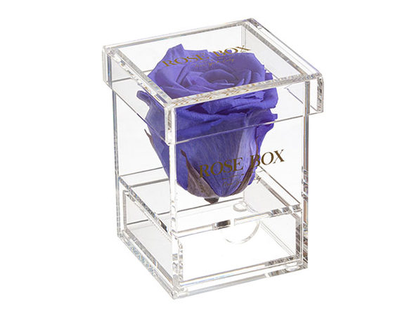 Single Rose Jewelry Box (Spring Purple) - Product Image