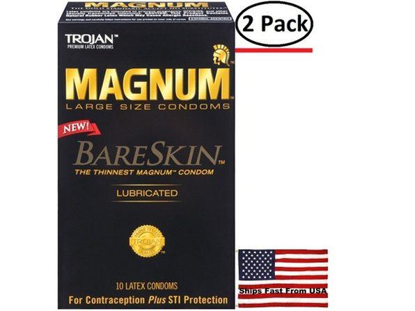 ( 2 Pack ) Trojan Magnum Bareskin - 10 Pack
