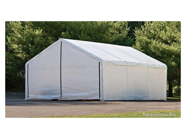 Shelter Logic 27776 30' x40' White Canopy Enclosure Kit FR Rated, Large - White