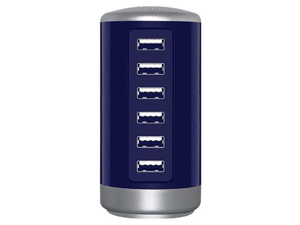 30W 6-Port USB Charging Station (Blue)