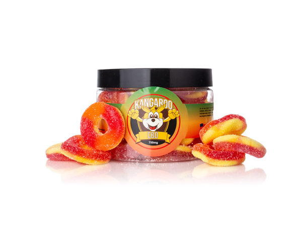 High Potency CBD Peach Ring Gummies (750 Mg)