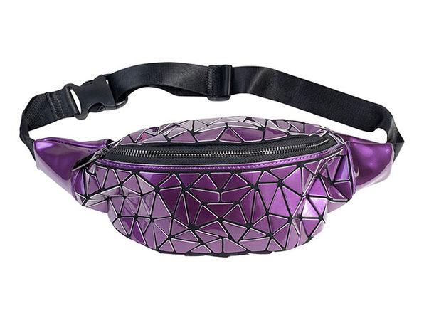 Geo Shaped Fanny Pack (Purple)