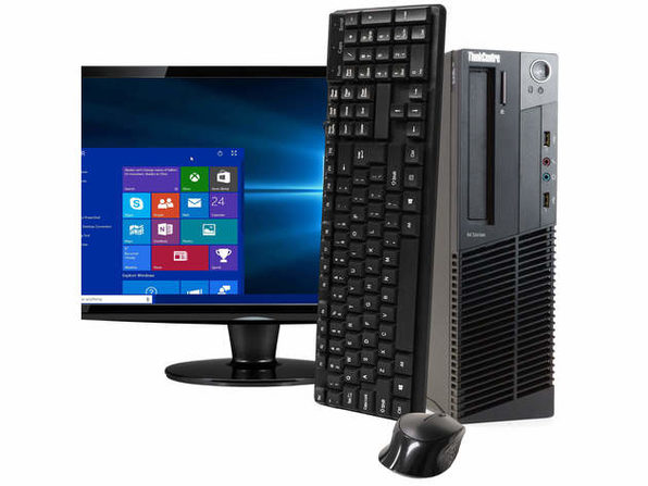 "Lenovo ThinkCentre M92 Desktop PC, 3.2GHz Intel i5 Quad Core Gen 3, 16GB RAM, 2TB SATA HD, Windows 10 Professional 64 bit, 22"" Widescreen Screen (Renewed)"