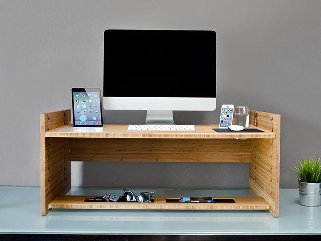 A raised desk.