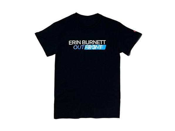 Erin Burnett OutFront Tee Black  M
