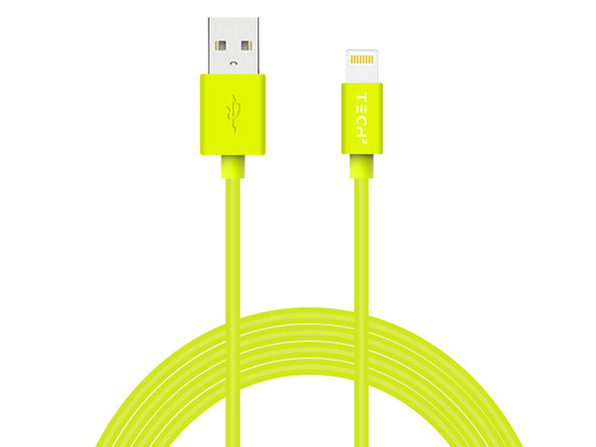 TECH2 Neon Lightning Cable (Green/6Ft)