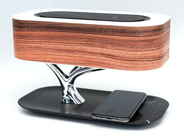 Tree of Light: Wireless Charger + Bluetooth Speaker + LED Lamp