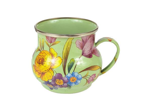 MacKenzie-Childs Flower Market Enamel Mug - Green - Product Image