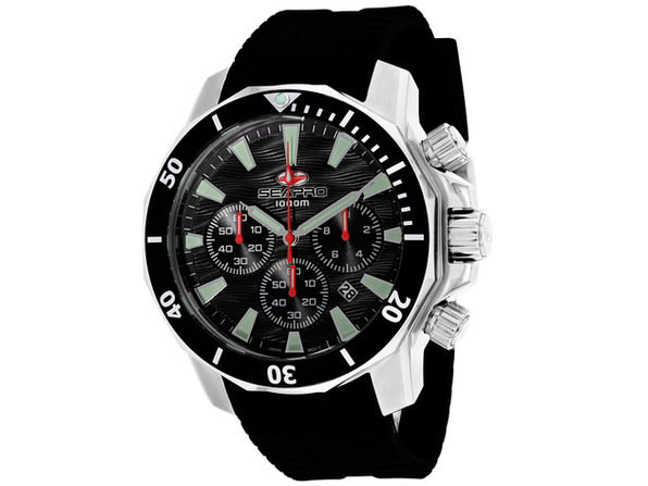 Seapro Men's Scuba Dragon Diver Limited Edition 1000 Meters Black Dial Watch - SP8340R
