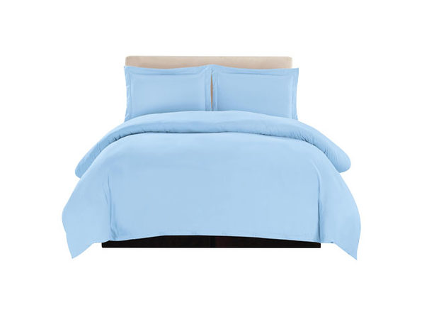 Lux Decor Collection 3-Piece Blue Duvet Cover Set