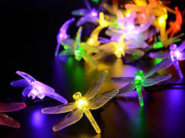 LED Dragonfly Solar Light String - MULTI COLORS - Product Image