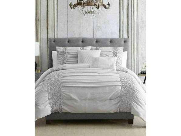 Hallmart Collectible Amalina 4-Pc Comforter Set Twin/ Twin XL Grey
