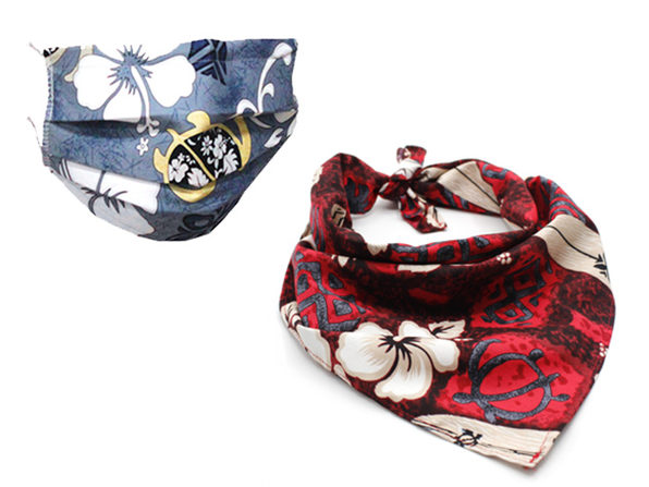 Hawaiian Bandana & 4-Layer Mask Bundle