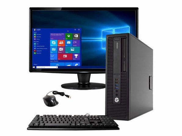 "HP EliteDesk 800 G2 Desktop PC, 3.4GHz Intel i5 Quad Core Gen 6, 16GB RAM, 2TB SATA HD, Windows 10 Home 64 bit, 22"" Widescreen Screen (Renewed)"