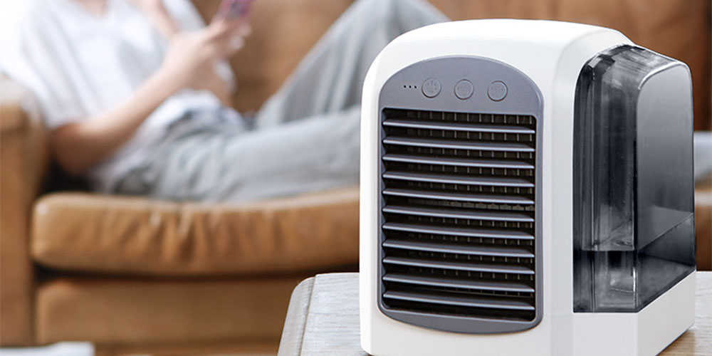 A portable air conditioner