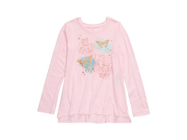 Epic Threads Big Girls Butterfly T-Shirt Pink Size Large