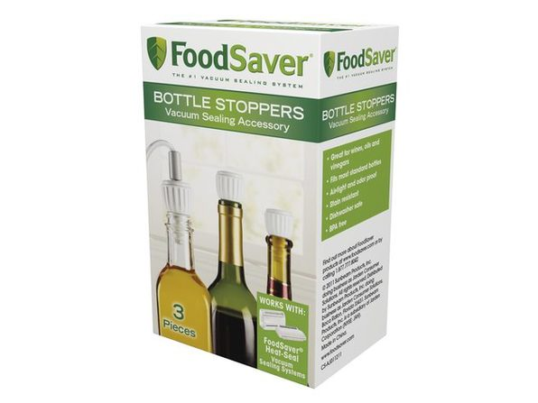 FoodSaver T03-0024-02 Bottle Stoppers, 3 Pack - White