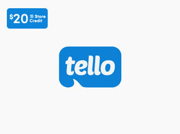 Tello Value Prepaid 6-Month Plan: Unlimited Talk/Text + 2GB LTE Data + $20 Store Credit