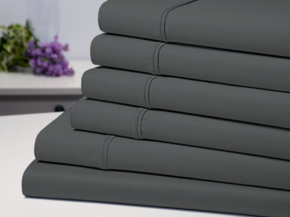 Bamboo Comfort 4 Piece Luxury Sheet Set - Grey (Twin) - Product Image