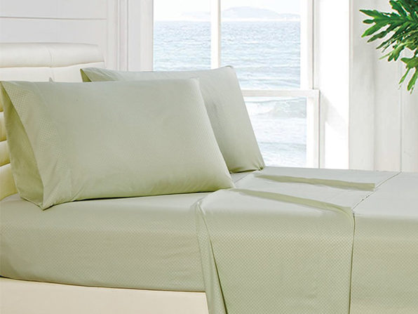 4-Piece Checkered Sage Sheet Set